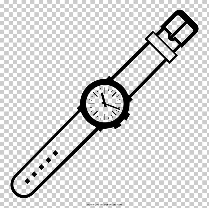 Watch Drawing Clock Coloring Book PNG, Clipart, Area, Ausmalbild, Bracelet, Brand, Clock Free PNG Download