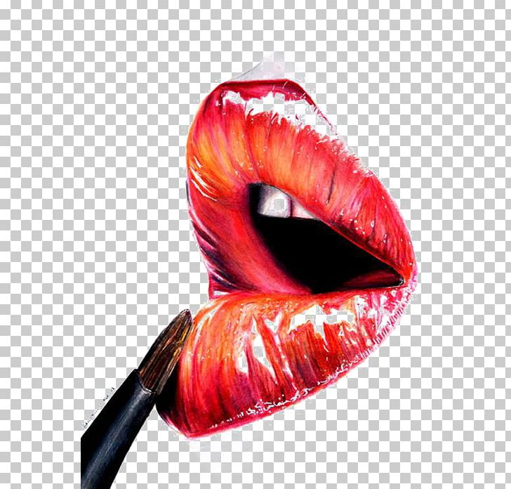 Lip Balm Lip Gloss Lipstick Illustration Png Clipart Cartoon Cartoon Lips Closeup Color Creative Free Png