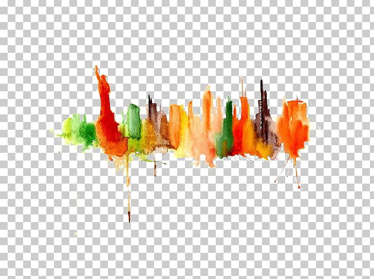 Watercolor Painting Drawing Art Cityscape PNG, Clipart, Brush, Cartoon, Computer Wallpaper, Hand, Landscape Painting Free PNG Download