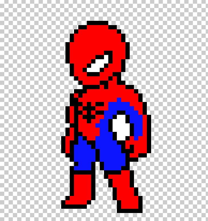 Spider Man Deadpool Pixel Art Marvel Heroes 2016 Bead Png