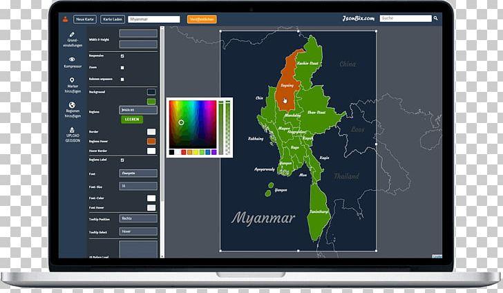 World Map Jsonbix Interaktive Landkarten Online Editor Map