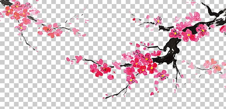 Japanese Art Ink Wash Painting Japanese Painting Png Clipart Blossom Branch Cherry Blossom Chinese Painting Computer