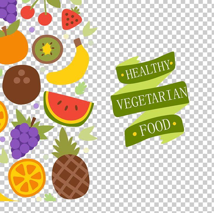 Vegetarian Cuisine Organic Food Health Food Fruit PNG, Clipart, Background Vector, Bana, Encapsulated Postscript, Food, Fruits And Vegetables Free PNG Download