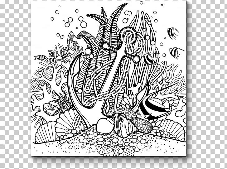 Coral Reef Drawing Coloring Book Png Clipart Artwork Black And White Color Coloring Book Coral Free