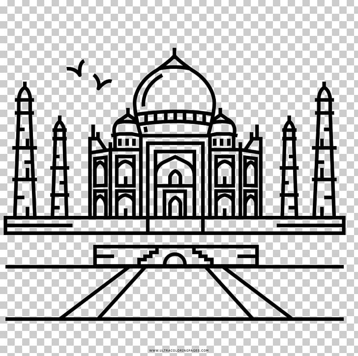 Taj Mahal Coloring Book Drawing Seven Wonders Of The Ancient World Landmark PNG, Clipart, Arch, Architecture, Area, Ausmalbild, Black And White Free PNG Download