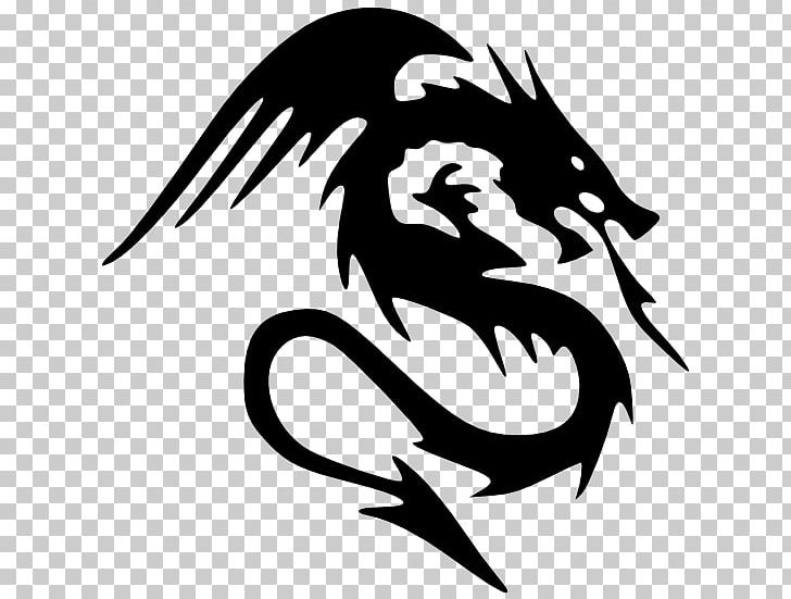 Dragon black. And white png clipart