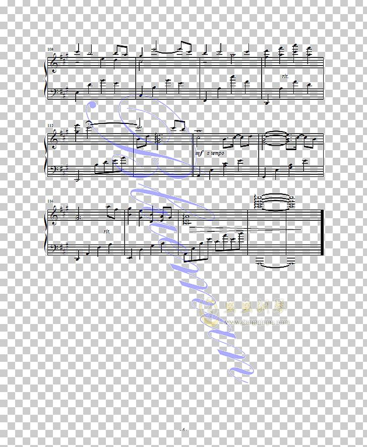 Sheet Music Piano Musical Notation Tremolo PNG, Clipart