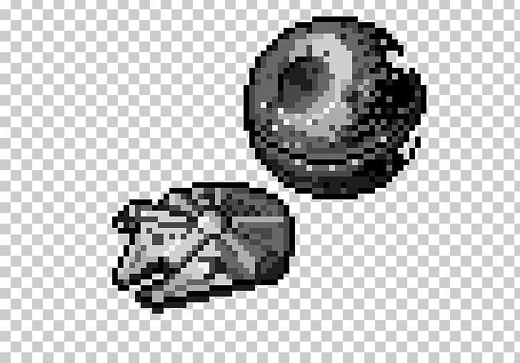 Death Star Millennium Falcon Pixel Art Star Wars Png
