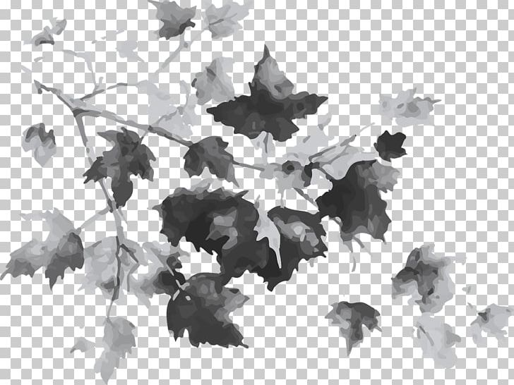 Maple Leaf Tree Autumn Drawing PNG, Clipart, Autumn, Autumn Leaf Color, Autumn Leaves, Black And White, Branch Free PNG Download