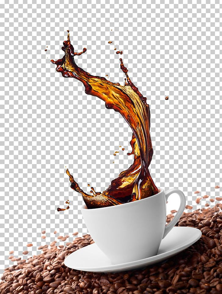 Green Coffee Cappuccino Cafe Coffee Bean PNG, Clipart, Caffeine, Coffee, Coffee Bean, Coffee Cup, Color Splash Free PNG Download