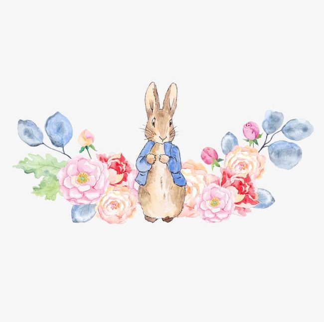 Rabbit And Flowers PNG, Clipart, Drawing, Drawing Rabbit, Flowers, Flowers Clipart, Flowers Clipart Free PNG Download