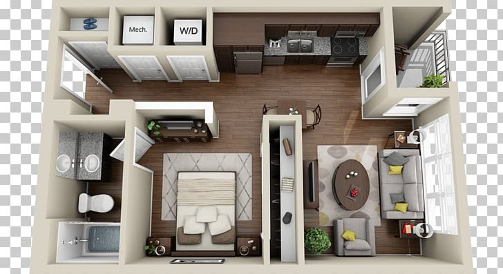 Studio Apartment House Plan 3D Floor Plan PNG, Clipart, 3d ...