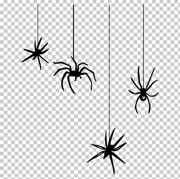 Spider Web Halloween PNG, Clipart, Animal, Arachnid, Arthropod, Black And White, Halloween Spider Free PNG Download