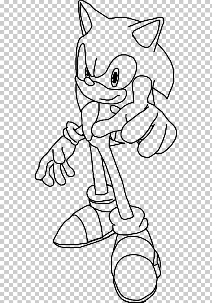 Line Art Sonic And The Black Knight Drawing Shadow The Hedgehog Cartoon Png Clipart Angle Arm