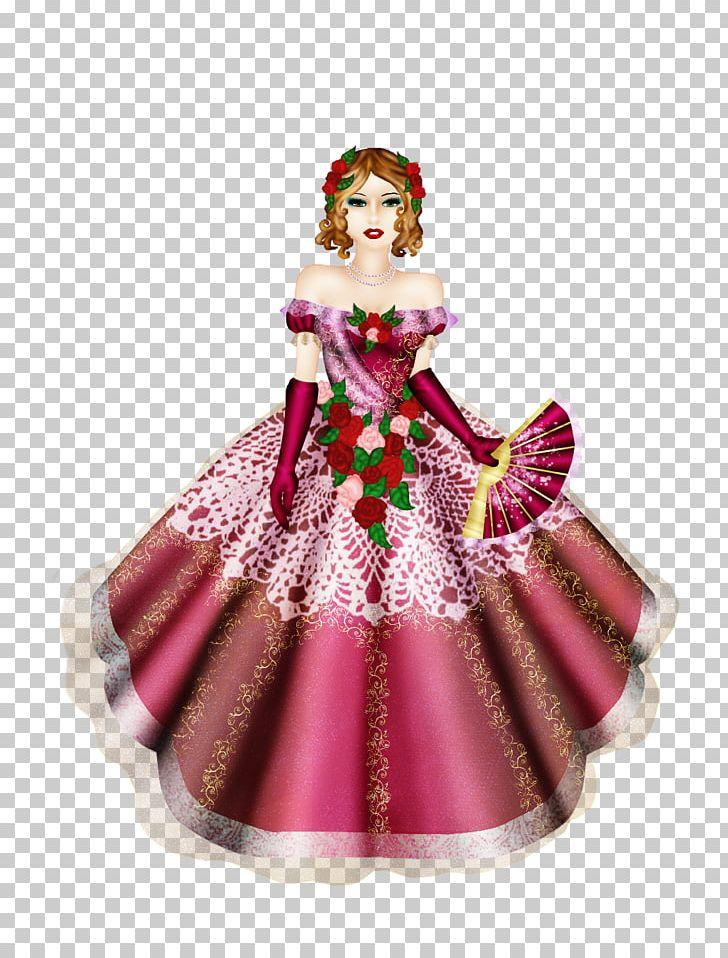 Barbie Christmas Ornament.Barbie Costume Design Christmas Ornament Magenta Png Clipart Art