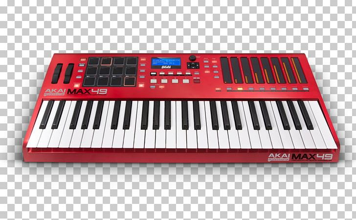 Yamaha MM6 Akai MAX49 MIDI Keyboard Sound Synthesizers PNG, Clipart