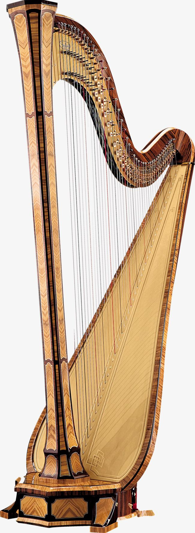 Brown Beautiful Harp PNG, Clipart, Art, Beautiful, Beautiful Clipart, Beautiful Harp, Brown Free PNG Download