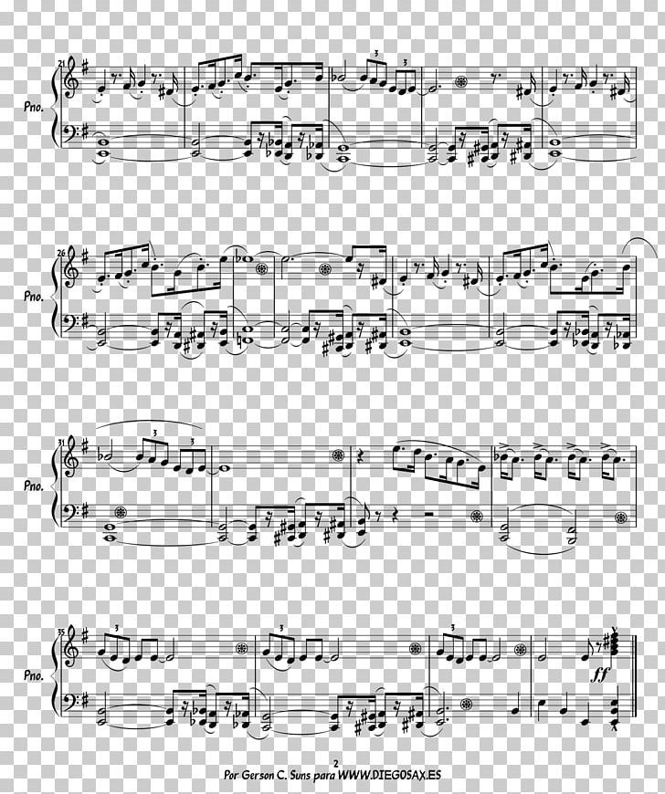 Sheet Music Piano The Pink Panther Brass Instruments PNG
