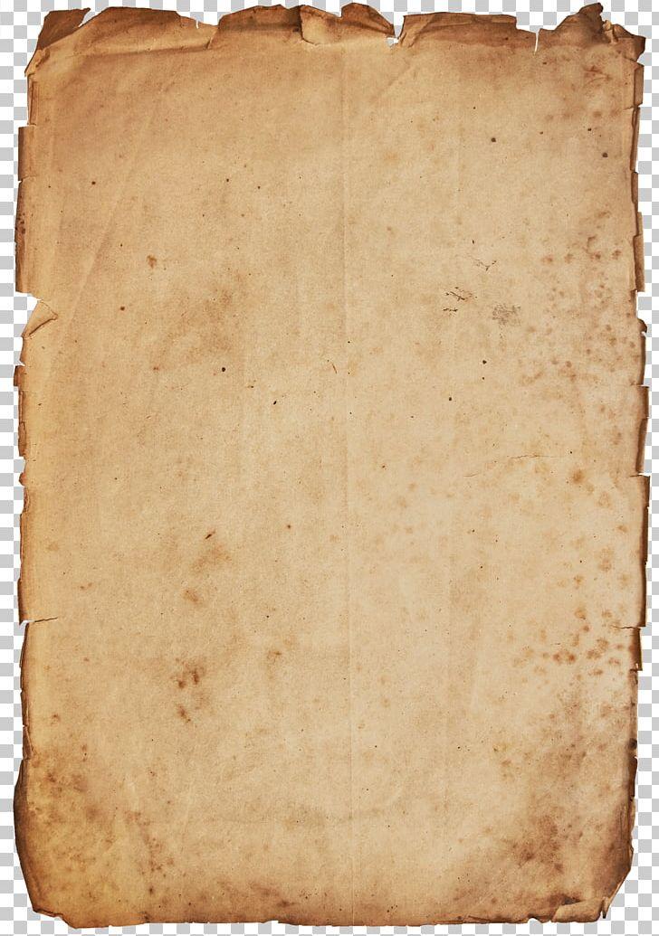 Parchment antique. Paper clip printing recycling