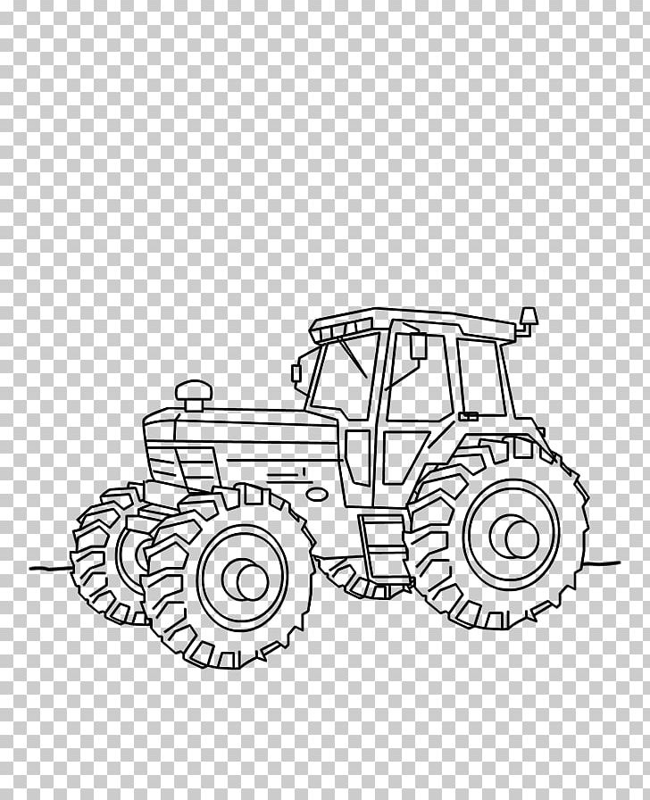 Car Tractor Fordson Kleurplaat Drawing Png Clipart Angle