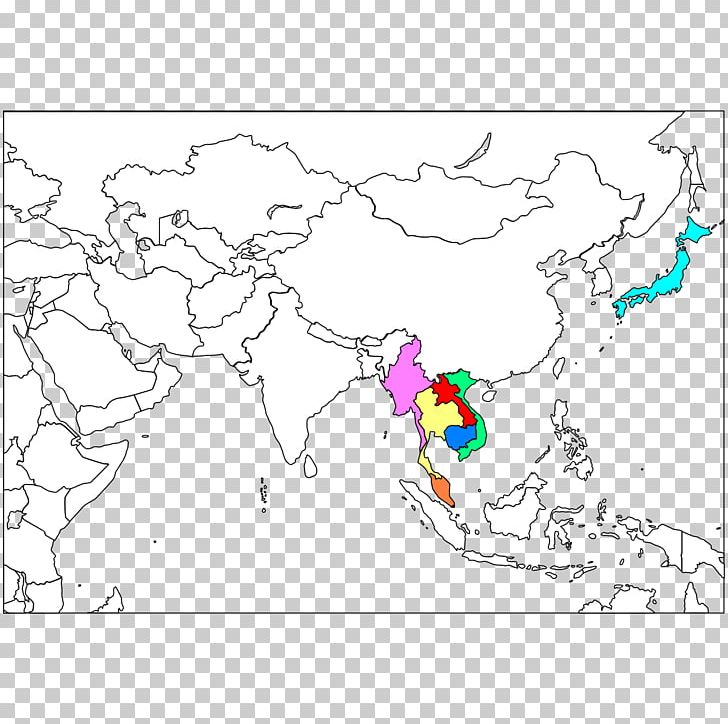 Southeast Asia Blank Map Western Asia South Asia PNG ...