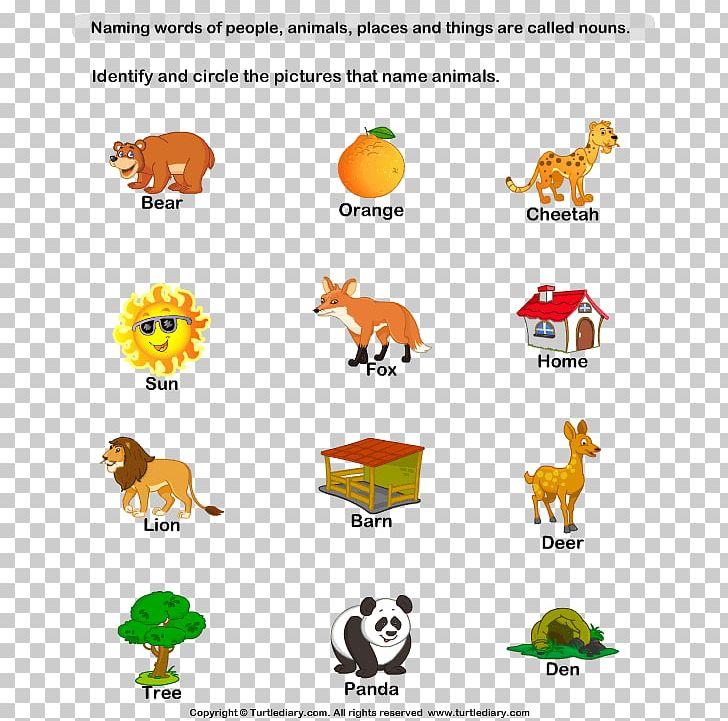 Naming Words: Nouns And Pronouns Kindergarten Worksheet ...