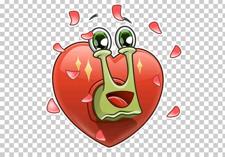 Telegram Sticker Snail VK PNG, Clipart, Food, Fruit, Happy Snail, Heart, Love Free PNG Download