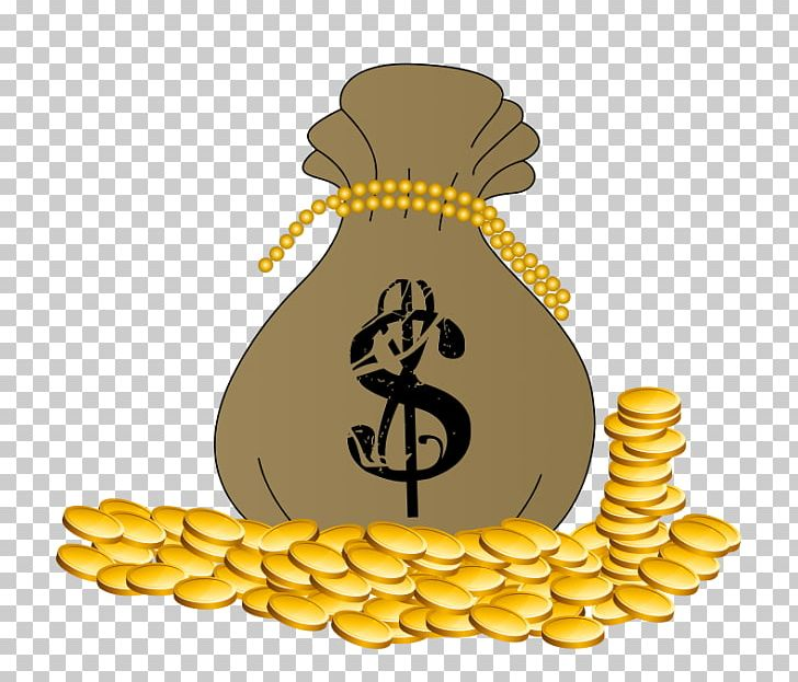 Money bag. Coin gold png clipart