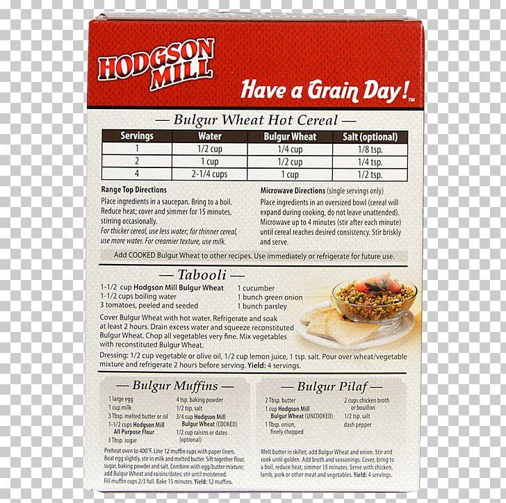 Breakfast Cereal Food Recipe Bulgur PNG, Clipart, Bobs Red Mill, Bran, Breakfast Cereal, Bulgur, Cereal Free PNG Download