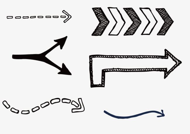 Various Arrows And Dotted Lines PNG, Clipart, Arrow, Arrows Clipart