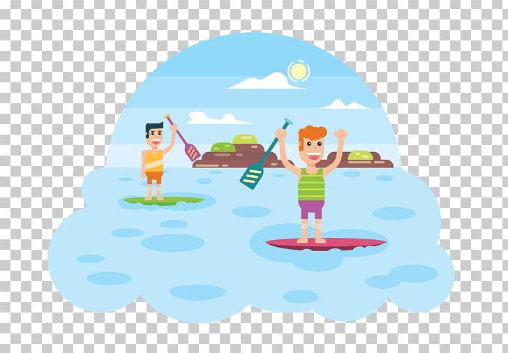 Standup Paddleboarding Surfing Surfboard PNG, Clipart, Beach, Cartoon, Clip Art, Computer, Computer Wallpaper Free PNG Download