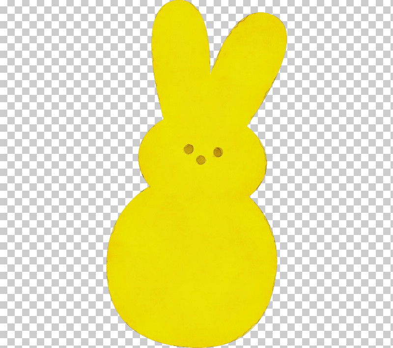 Yellow Rabbits And Hares Rabbit PNG, Clipart, Paint, Rabbit, Rabbits And Hares, Watercolor, Wet Ink Free PNG Download