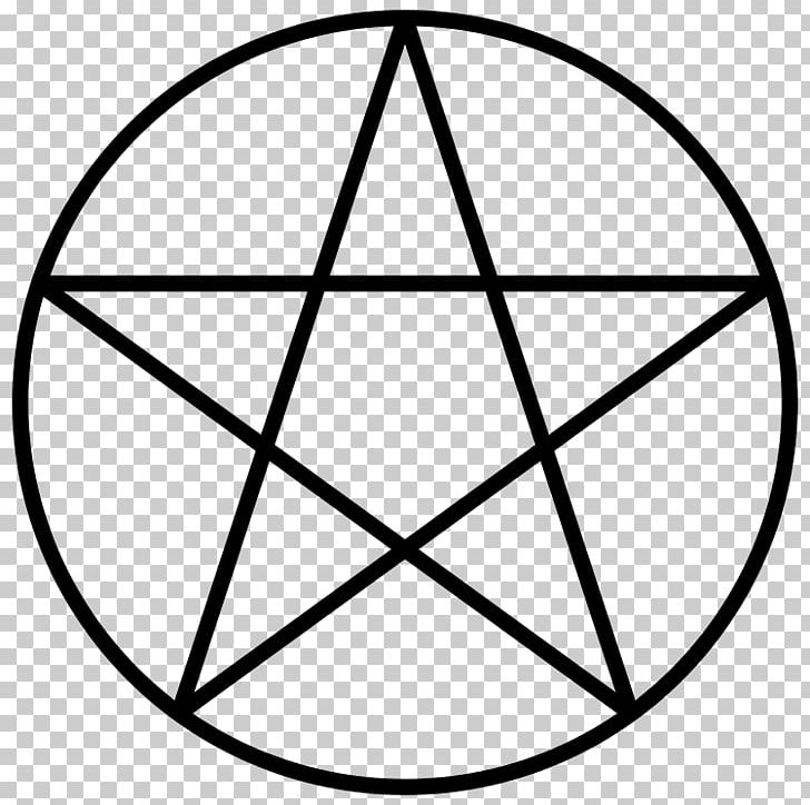 Pentagram Pentacle Magic Circle Symbol Seal Of Solomon PNG, Clipart, Angle, Area, Black And White, Circle, Fivepointed Star Free PNG Download