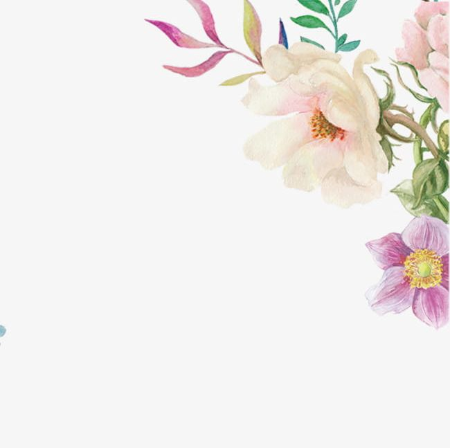 Hand Painted Watercolor Flowers PNG, Clipart, Flowers, Flowers Clipart, Hand, Hand Clipart, Hand Painted Free PNG Download