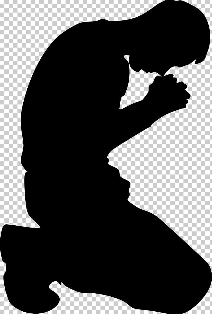 Praying Hands Kneeling Silhouette PNG, Clipart, Animals, Black And White, Computer Icons, Hand, Joint Free PNG Download
