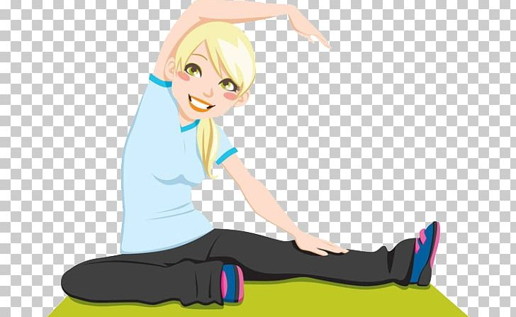 Flexibility Stretching Png Clipart Arm Athletic Burning Cartoon Exercise Free Png Download