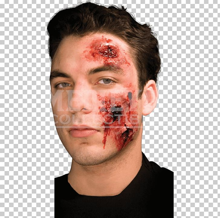 Prosthesis Prosthetic Makeup Latex Cosmetics Spirit Gum PNG, Clipart, Blood, Bullet Wound, Cheek, Chin, Cosmetics Free PNG Download