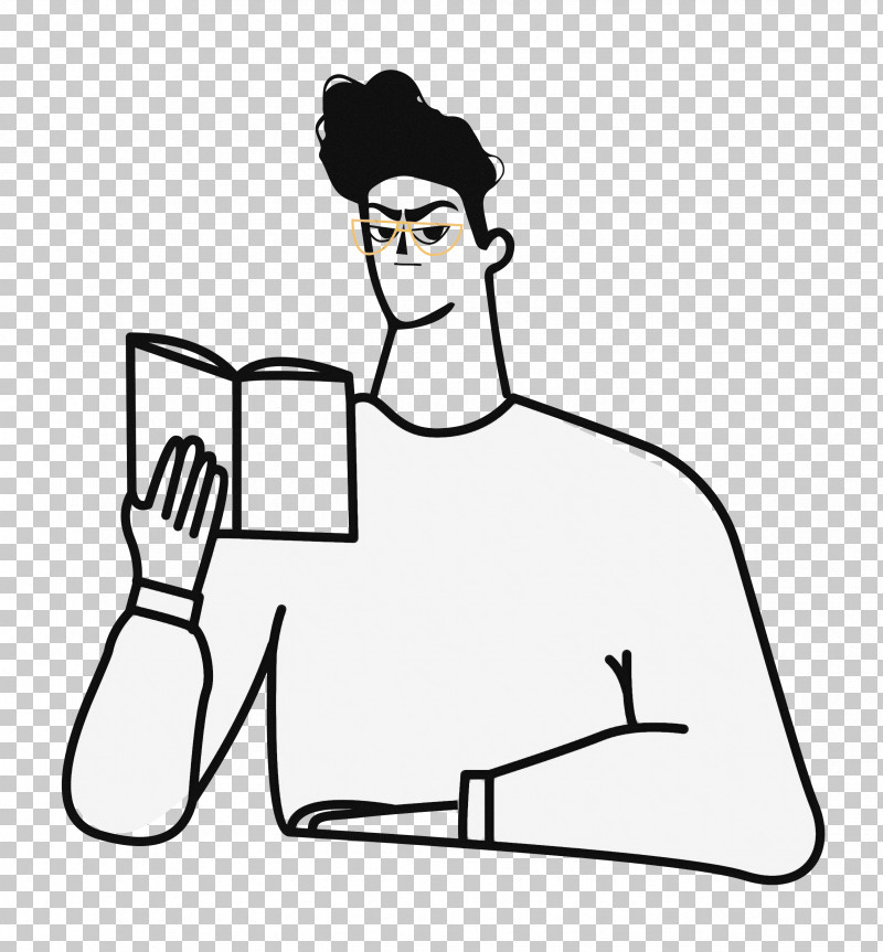 Reading Book PNG, Clipart, Clothing, Face, Human Body, Line Art, Reading Book Free PNG Download