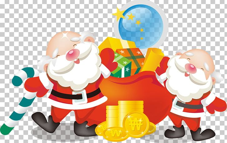 Santa Claus Gift Christmas Computer Icons Bag PNG, Clipart, Fictional Character, Food, Happy Birthday Vector Images, Holidays, Material Free PNG Download
