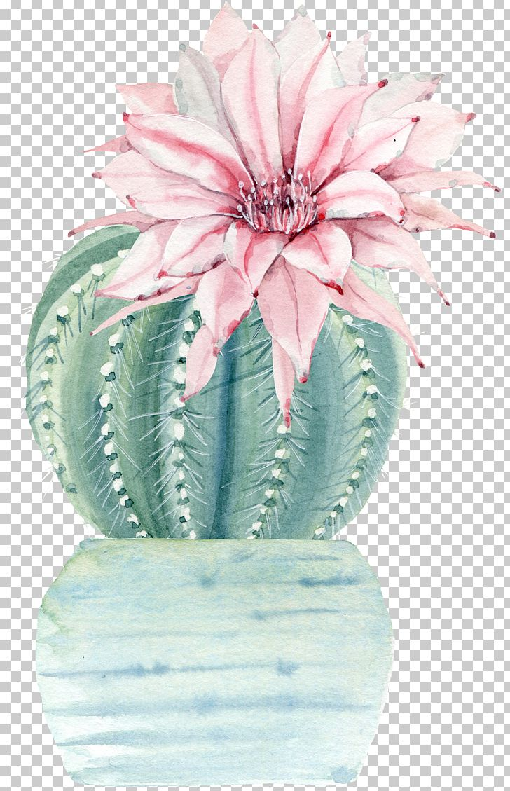 Water Color Flower Plant Cactus PNG, Clipart, Atmosphere, Botany, Cactaceae, Color Splash, Flower Free PNG Download
