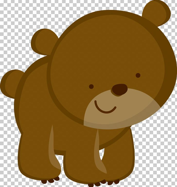Camping bear. Paper scrapbooking png clipart