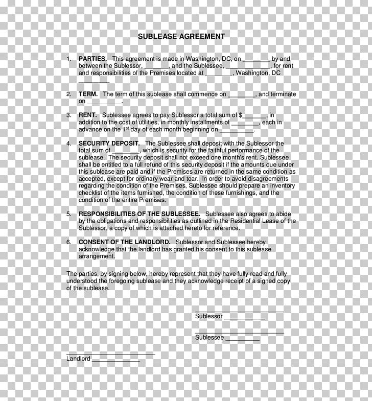 Rental Agreement Lease Contract Form Template Png Clipart