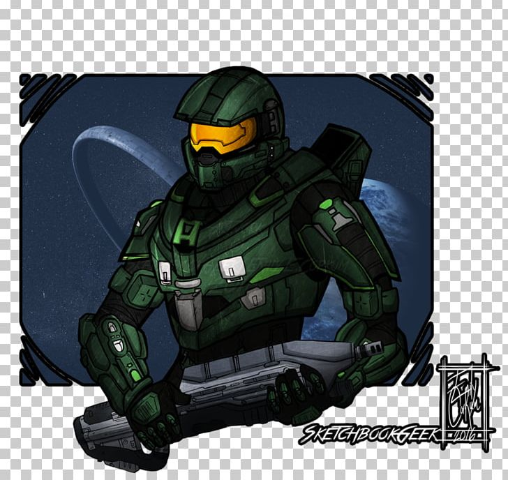 Master Chief Artist Halo Drawing Png Clipart 343