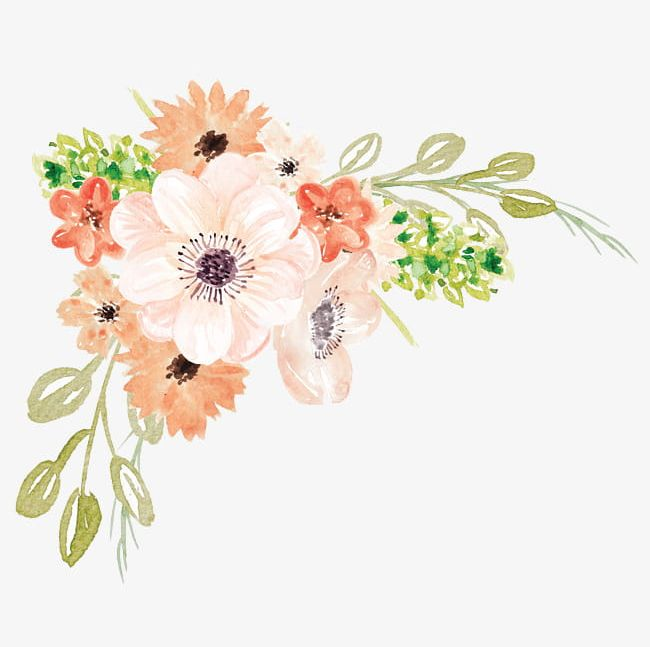 Watercolor Flowers PNG, Clipart, Cartoon, Flowers, Flowers Clipart, Hand, Hand Painted Free PNG Download