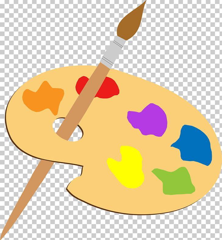 Art painting. Palette paintbrush png clipart