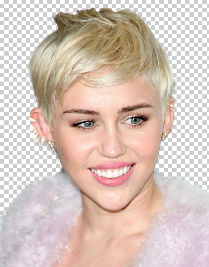Miley Cyrus Pixie Cut Hairstyle Hair Coloring Bangs Png Clipart Bangs Beauty Blond Brown Hair Celebrity