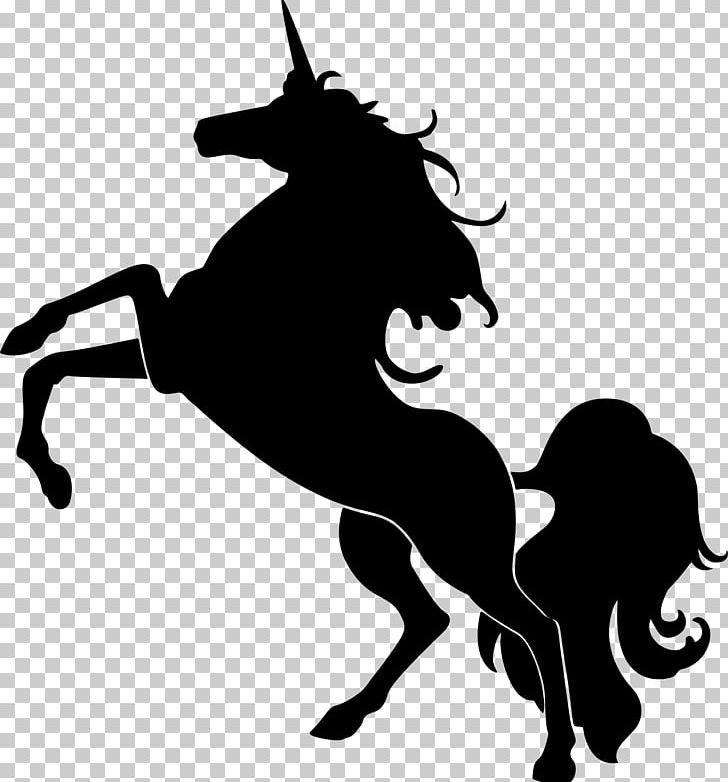 Horse Unicorn Silhouette PNG, Clipart, Animals, Black And White, Equestrian Sport, Fairy Tale, Fictional Character Free PNG Download