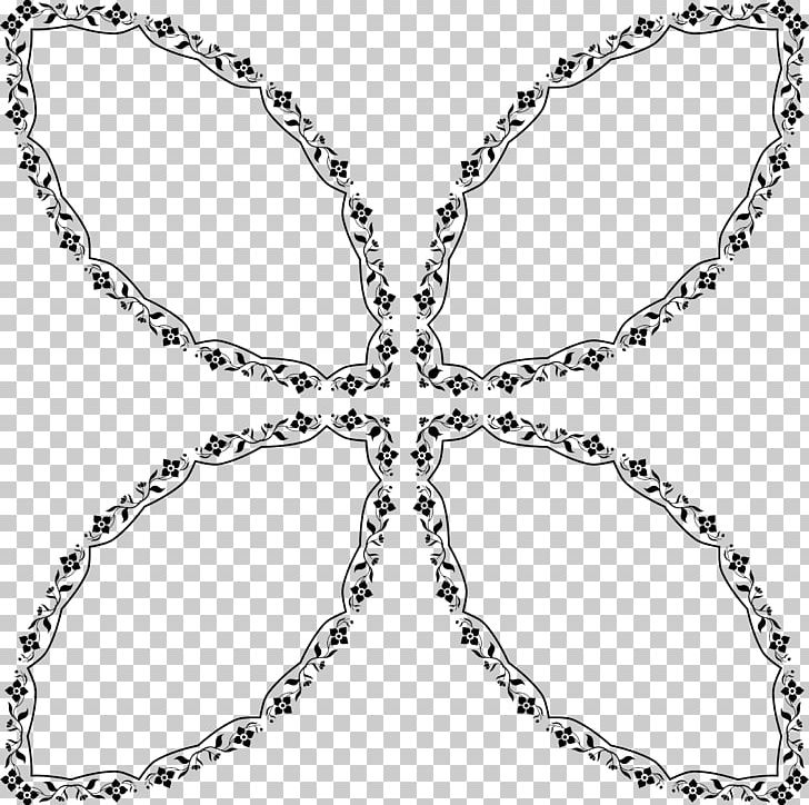 Decorative Arts Floral Design PNG, Clipart, Art, Black And White, Body Jewelry, Circle, Computer Icons Free PNG Download