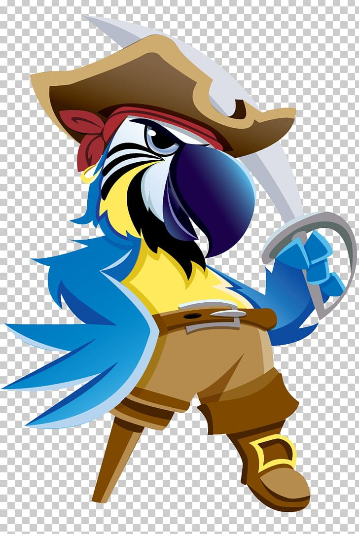 Pirate Parrot Piracy Cartoon PNG, Clipart, Animals, Art, Beak, Bird, Cartoon Free PNG Download