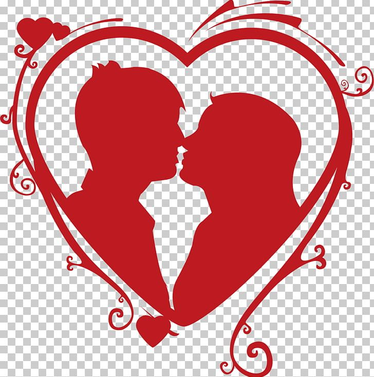 Heart Kiss Couple Love PNG, Clipart, Black And White ...